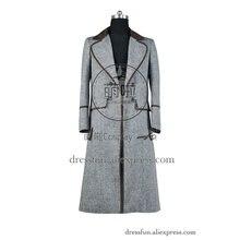 3e8633663c Którzy Kupują Lekarz Cosplay 4th Czwartej Dr Tom Baker kostium Wenge Brown  Trench Coat Długie Życie Codzienne Wysokiej Jakości H..