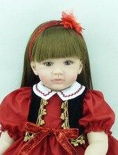22 inch 55 cm Silicone baby reborn dolls, lifelike doll reborn babies toys Lovely beautiful doll Festival gift