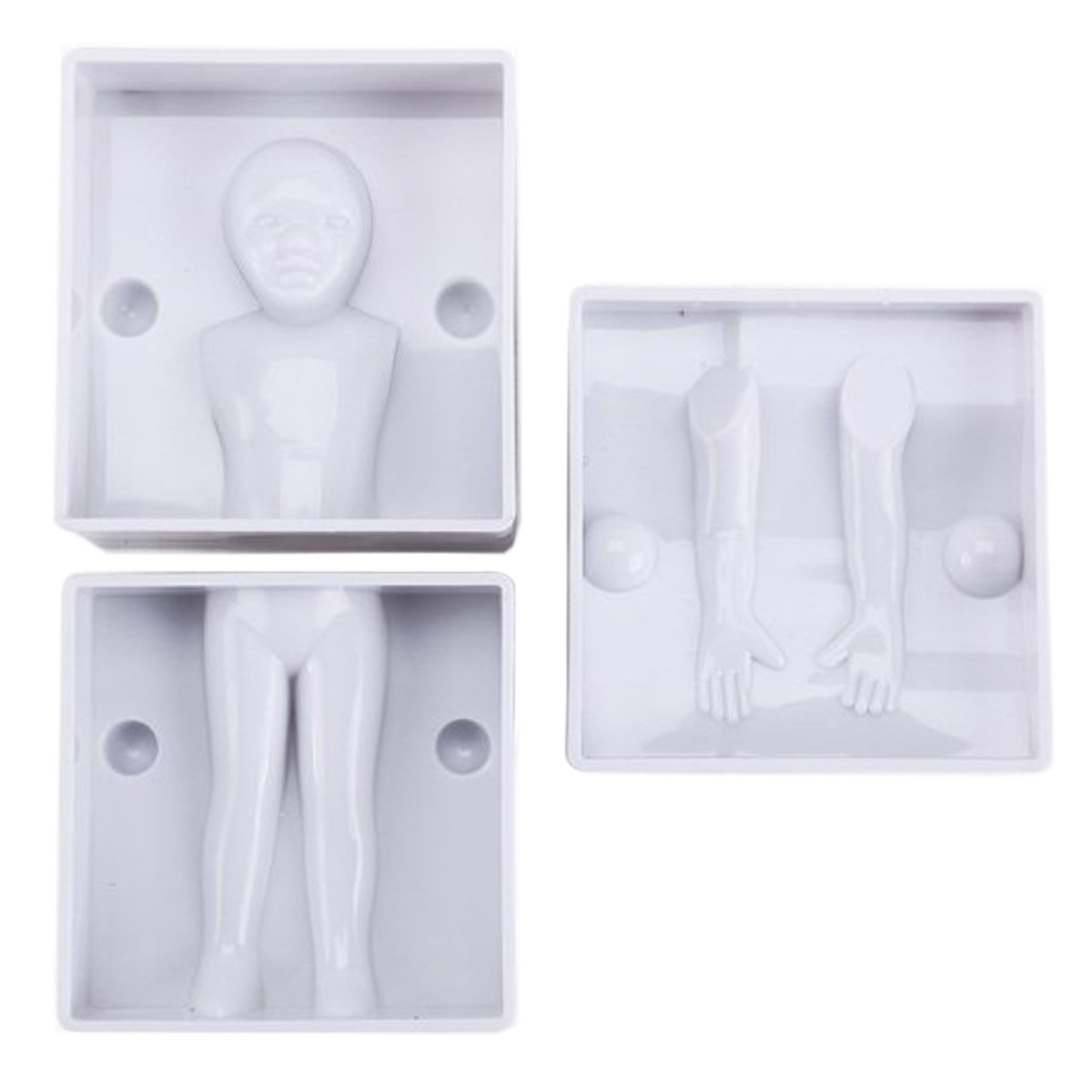 4x model 3D mold boy men and women girl figurine of cookie pieces putty Sugar cake
