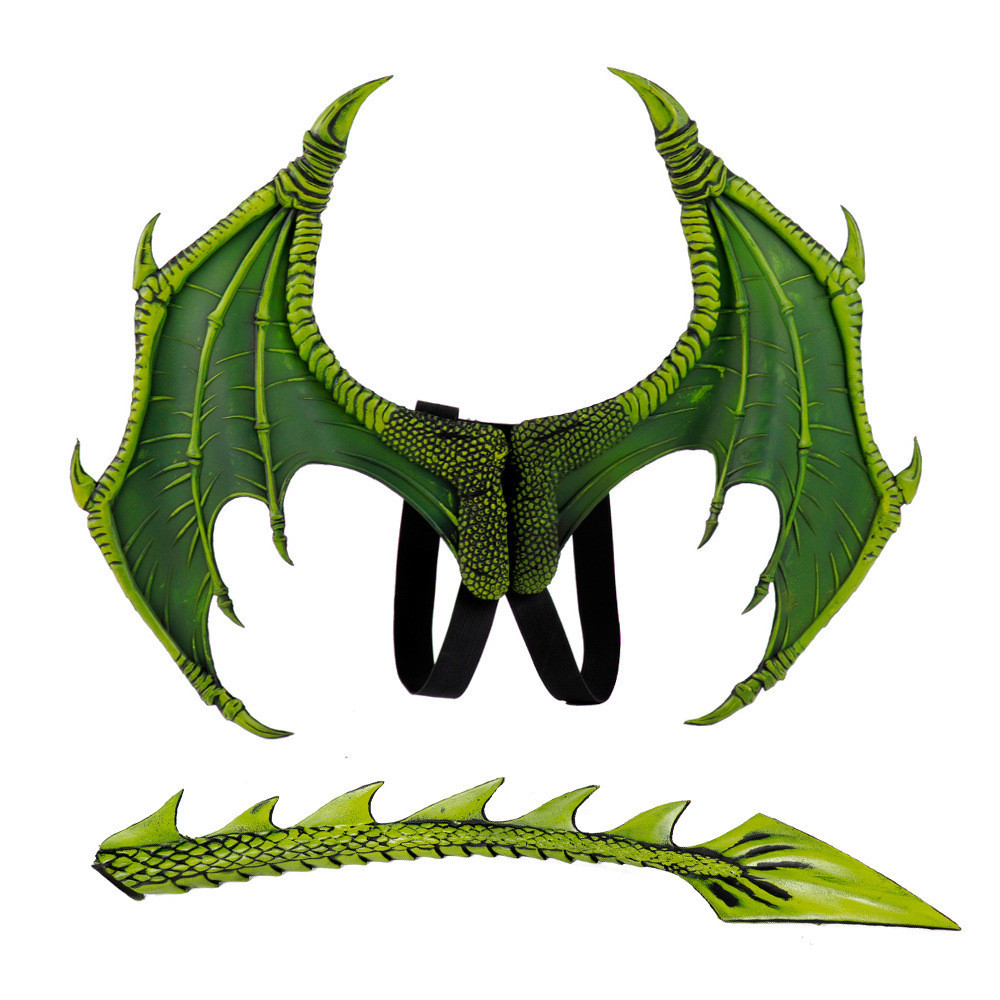 Cosplay Halloween Wings-Tail-Mask Animal-Costume Carnival-Props Dragon for Kids Boys