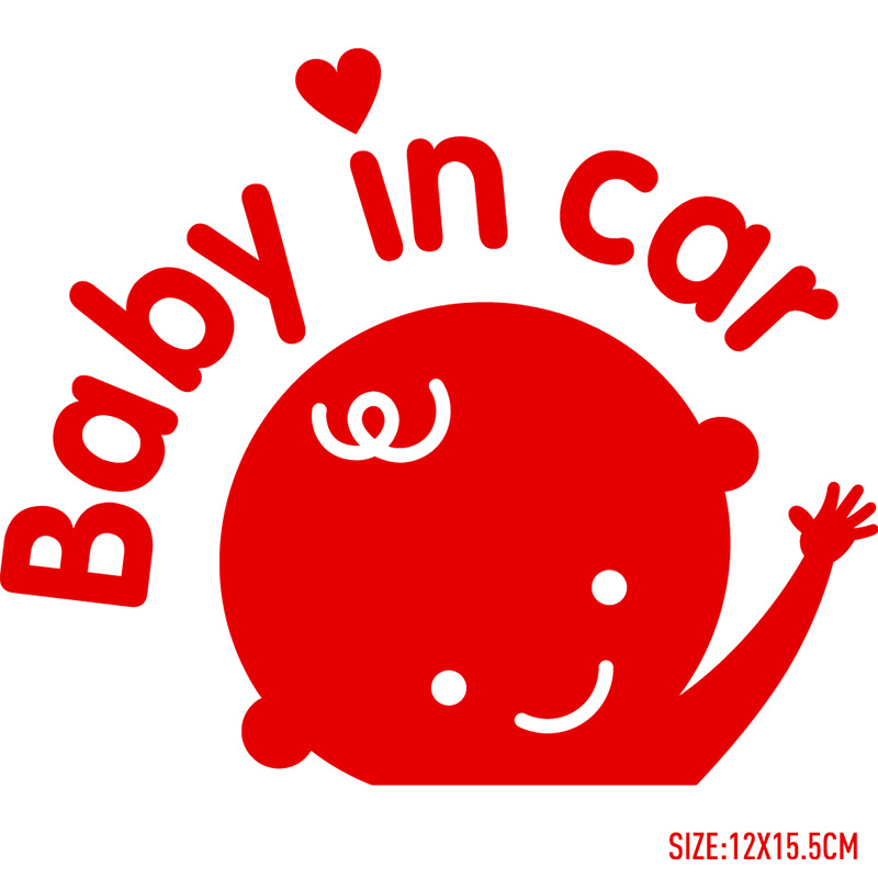 Baby in car Car baby care Stickers Decal Car Styling For ford focus VW golf gti cruze Fiesta renault accessories