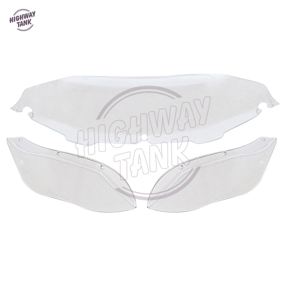 8 Clear Motorcycle Front Windshield Moto Side Air Wing Fairing case for Harley Electra Street Glide Touring 1996-2013