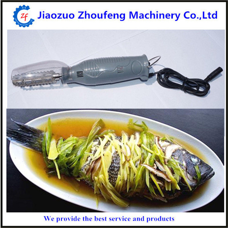 2016 Easy to operate fish clean tool manual electric fish scaler machine   ZF