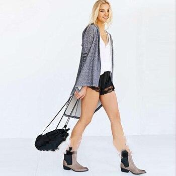 Knitted Kimono Cardigan Sweater Plus Size Hooded Batwing Sleeve Long Autumn Outwear Gray Loose Casual Women Coat Split 40%W