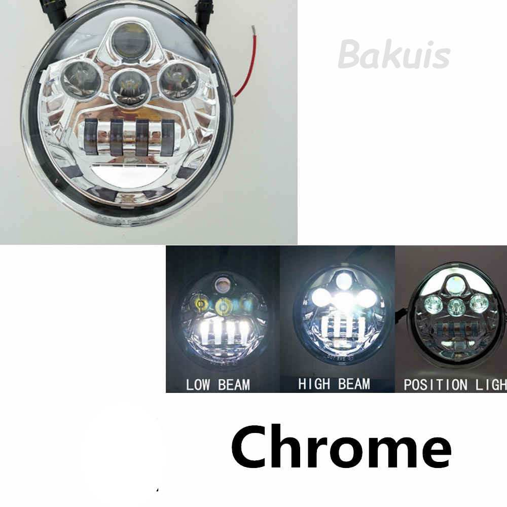 1PCS LED Headlight For Harley Davidson VRSCA V-Rod VRod Motorcycle Aluminum Headlight (Chrome)