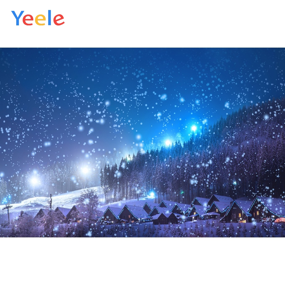 Yeele Winter Landscape Photocall Countryside Chalet Photography Backdrops Personalized Photographic Backgrounds For Photo Studio