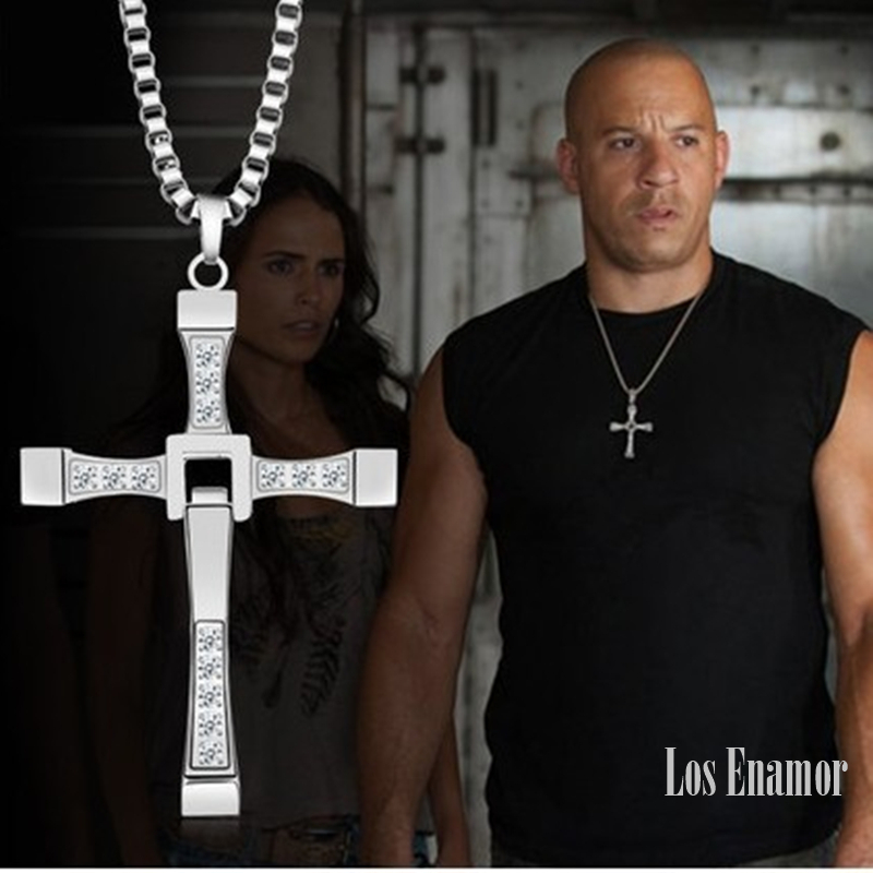 New Male Necklaces & Pendants Fashion Movie jewelry The Fast and The Furious Toretto Men Classic CROSS Pendant Necklace1