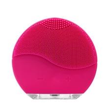 Электрическая силиконовая Очищающая щетка для лица, звуковой вибрационный массаж, перезаряжаемый через USB, умный Ультра звуковой очиститель для лица, инструмент для красоты