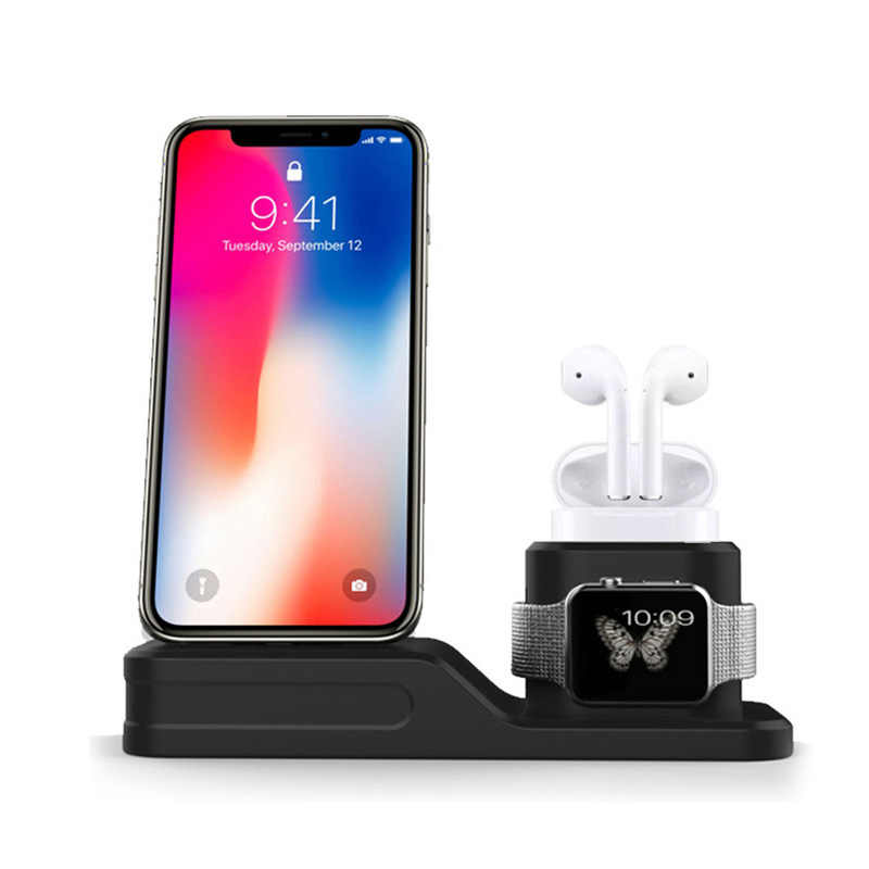 Qi inalámbrico cargador para Apple watch 1 2 3 iPhone XS Max XR 8X8 Plus AirPods de carga rápida para Samsung S9 S8 Nota 9 8