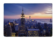 Floor Mat New York City with skyscrapers at sunset Print Non-slip Rugs Carpets alfombra For Indoor Outdoor Living Room