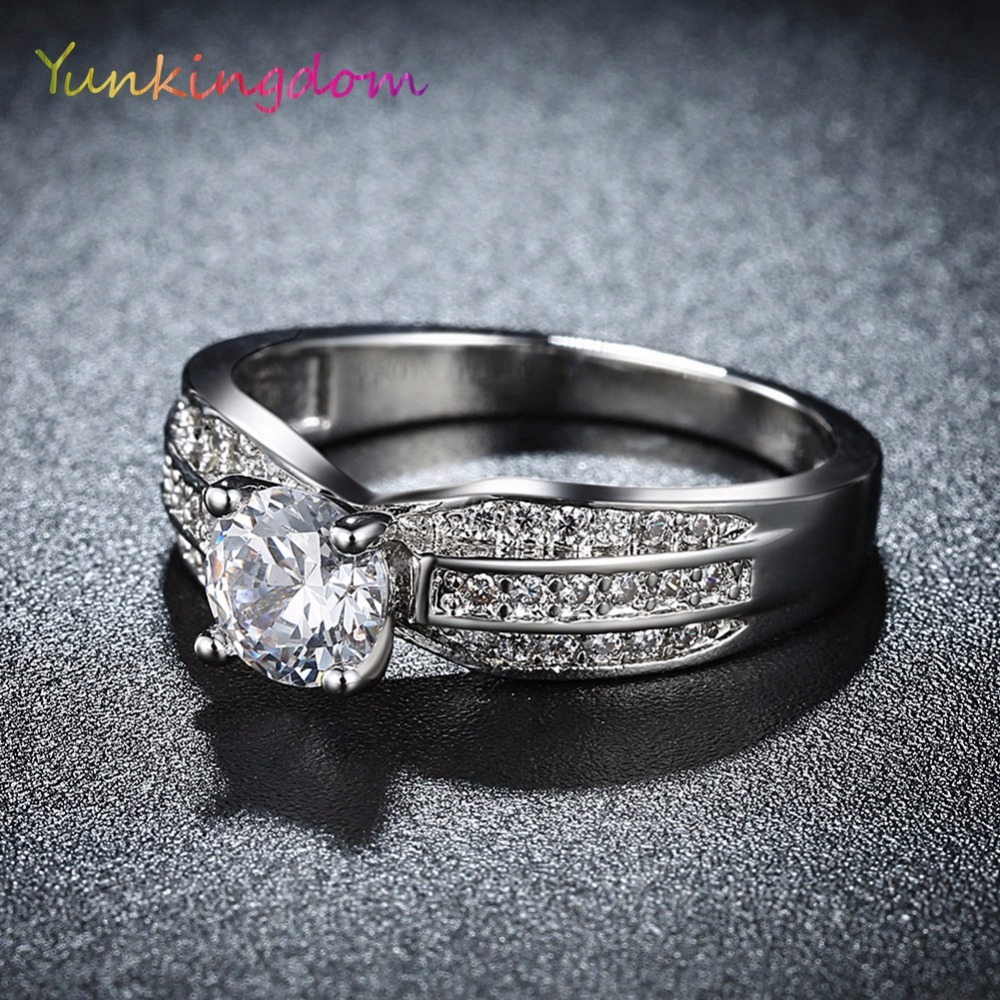 Yunkingdom brand design engagement wedding rings series stamps rings