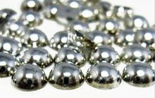 2mm,4mm,5mm,6mm,8mm,10mm,12mm Jelly Silver Hematite Flat back ABS round Half Pearl beads, imitation plastic half pearl beads