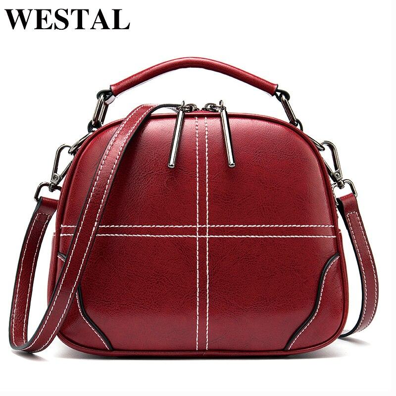 WESTAL luxury handbags women bags designer women's shoulder bag genuine leather female bag messenger/crossbody bags for women