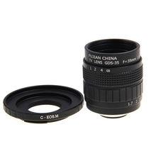 Fujian 35mm f1.7 cctv lente filme + c monte a canon eos m mirrorless câmera m2 m3 m5 m6 m10