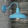 Retail Nostalgic vintage american rustic lights balcony entranceway outdoor wrought iron wall lamp lights