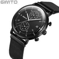 Business Brand Men Quartz Watch Thin Steel Calendar Luminous Clock Military Male Watches Luxury Wristwatch Waterproof