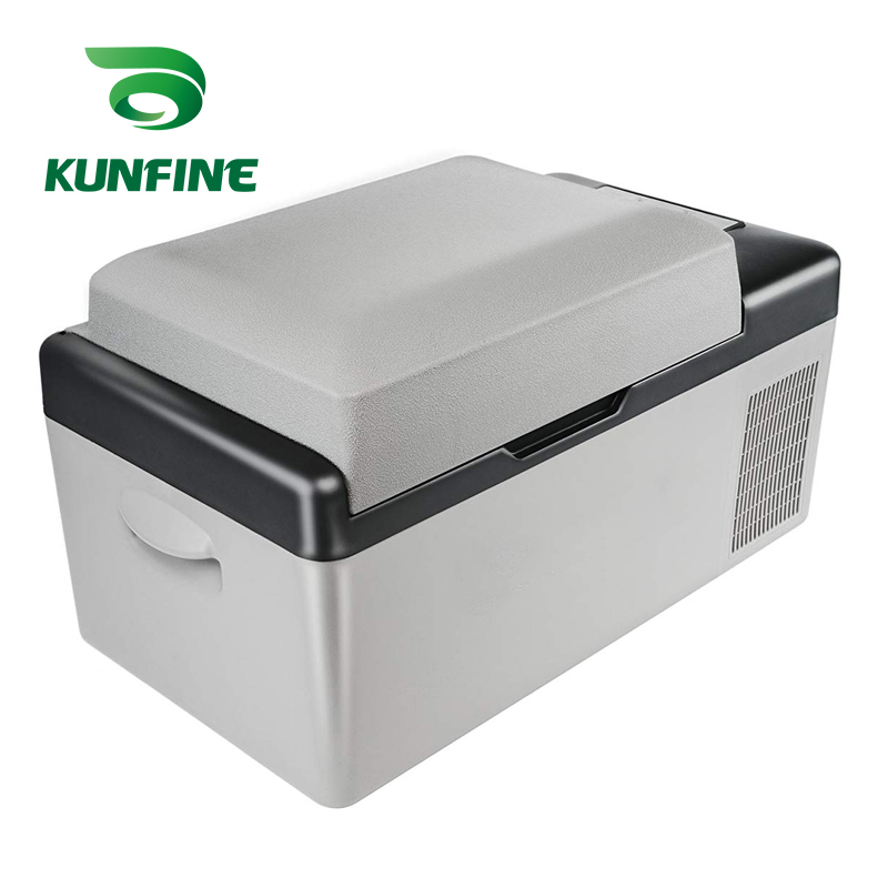 Car Refrigerator Cooler Freezer Fridge-Vehicel Multi-Function Protable Grey 20L DC AC title=