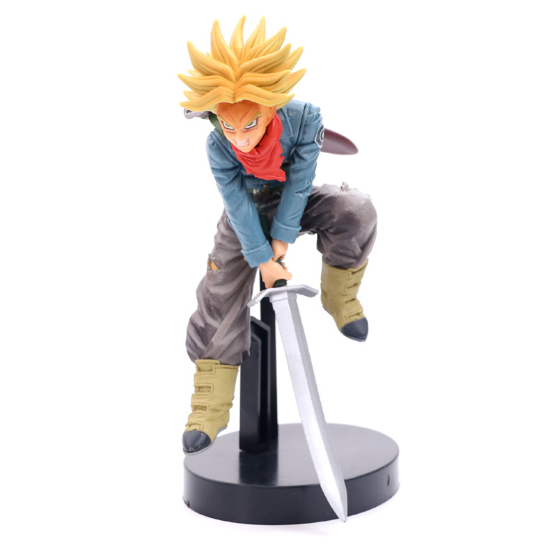 Anime Dragon Ball Z Fighting Trunks Super Saiyan Figure Model Collection Toys 20cm