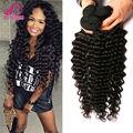 7A Mink Brazilian Virgin Hair Deep Wave 4 pcs Lot Queen Hair Products Unprocessed Brazilian Deep Curly Virgin Hair Weave Bundles