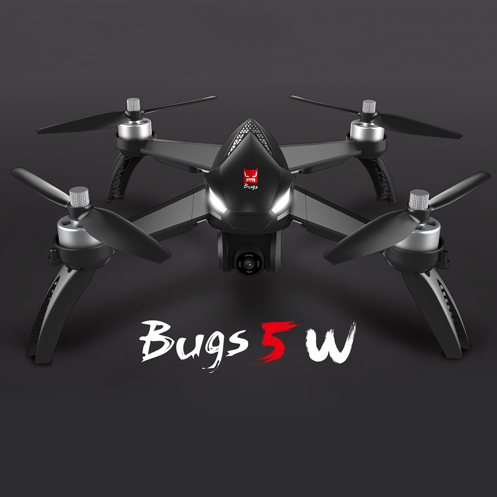 Drone with Camera MJX Bugs 5W 1080P 5G Mini Drone Wifi FPV GPS Positioning Altitude Hold RC Brushless Motor Quadcopter mjx bugs 5w brushless motor rc drone with 1080p adjustment hd camera wifi 5g fpv gps auto return rc quadcopter