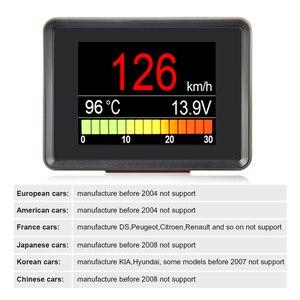 Image 3 - Ordenador a bordo A203 OBD2, pantalla Digital para coche, velocímetro, medidor de consumo de combustible, medidor de temperatura, escáner OBD2
