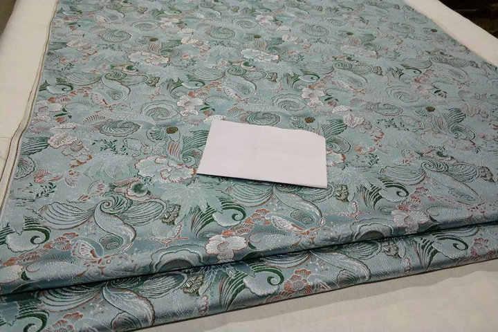 HLQON 75Cm Lebar Brokat Benang Dicelup Kain Ringan untuk Patchwork Merasa Jaringan Telas Sprei Anak-anak Mantel Kain Cheongsam gaun