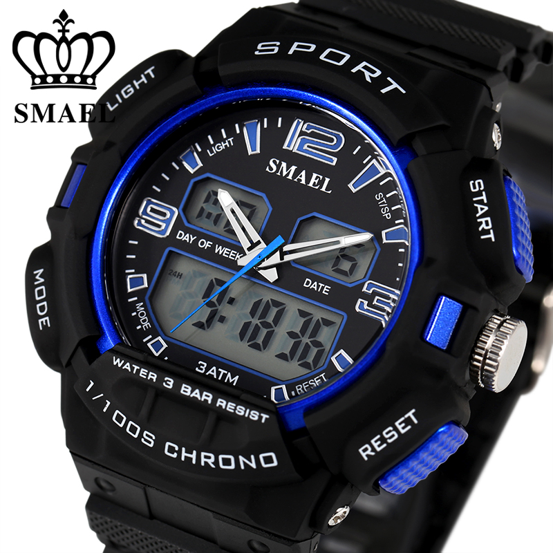 black calendar wristwatch digital watch military product alarm waterproof sports electronic fashion mens stopwatch discount running casual males watches with