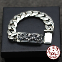 S925 sterling silver men bracelet personalized retro classic punk style unique anchor hip hop fashion gift to send lover