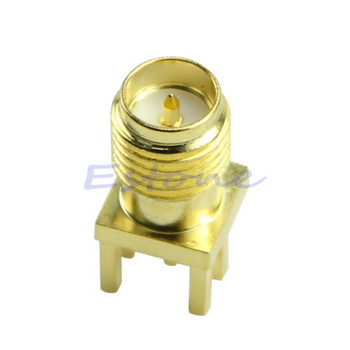 Edge Mount RP SMA PCB Board Receptacle Male Jack Connector Adapter image