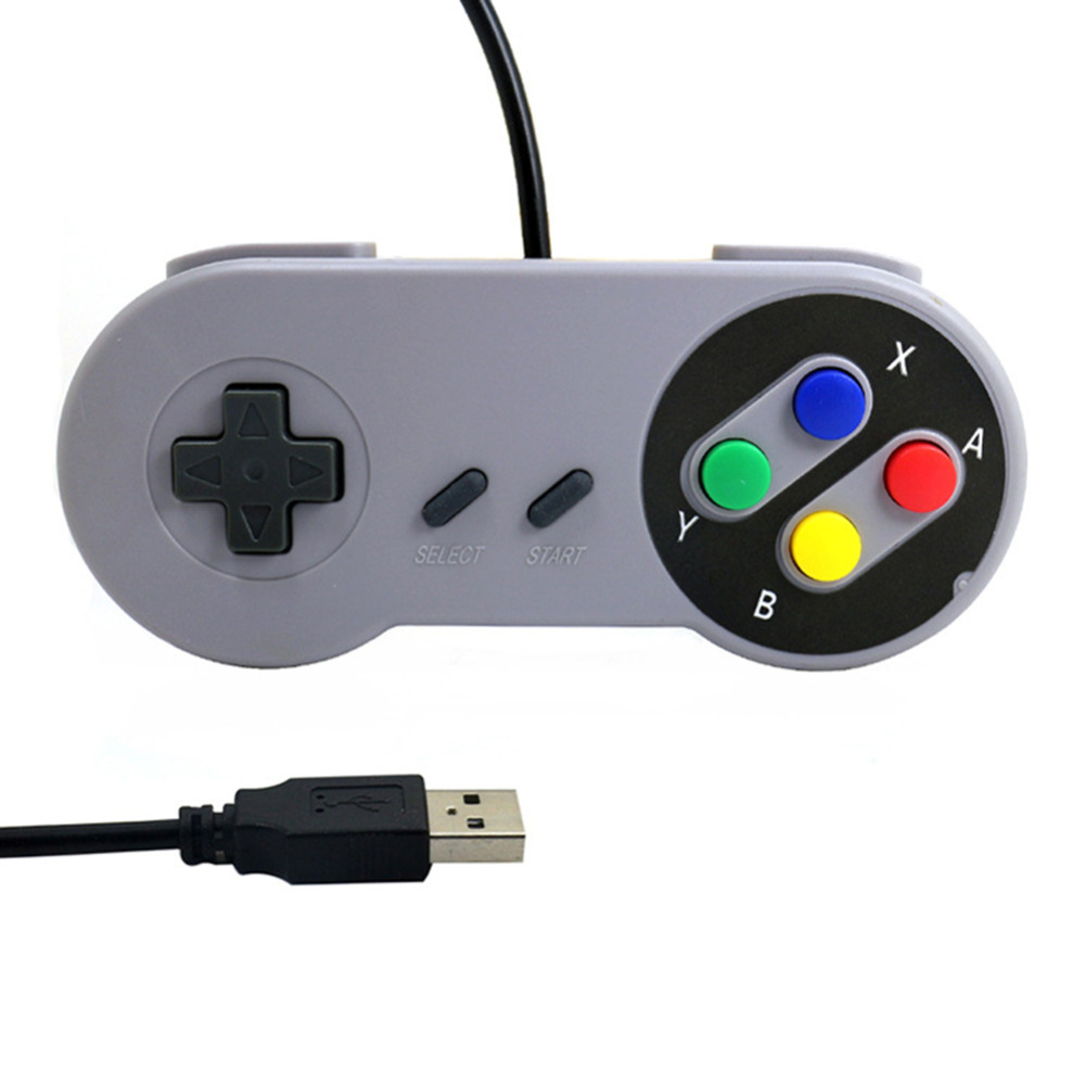Wired USB Game Controller Gaming Joypad Joystick For Nintendo Nintend SNES Retro Handle Gamepad forME XP MAC PC Windows 2000 98