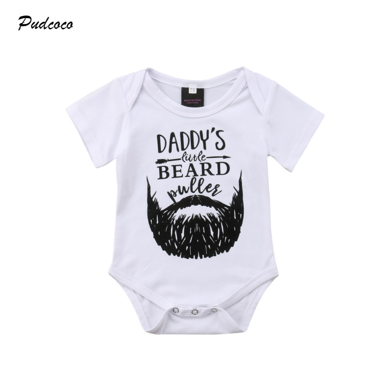 My Daddy has a Beard Baby Vest Baby Grow 100/% Cotton Boys Girls Bodys
