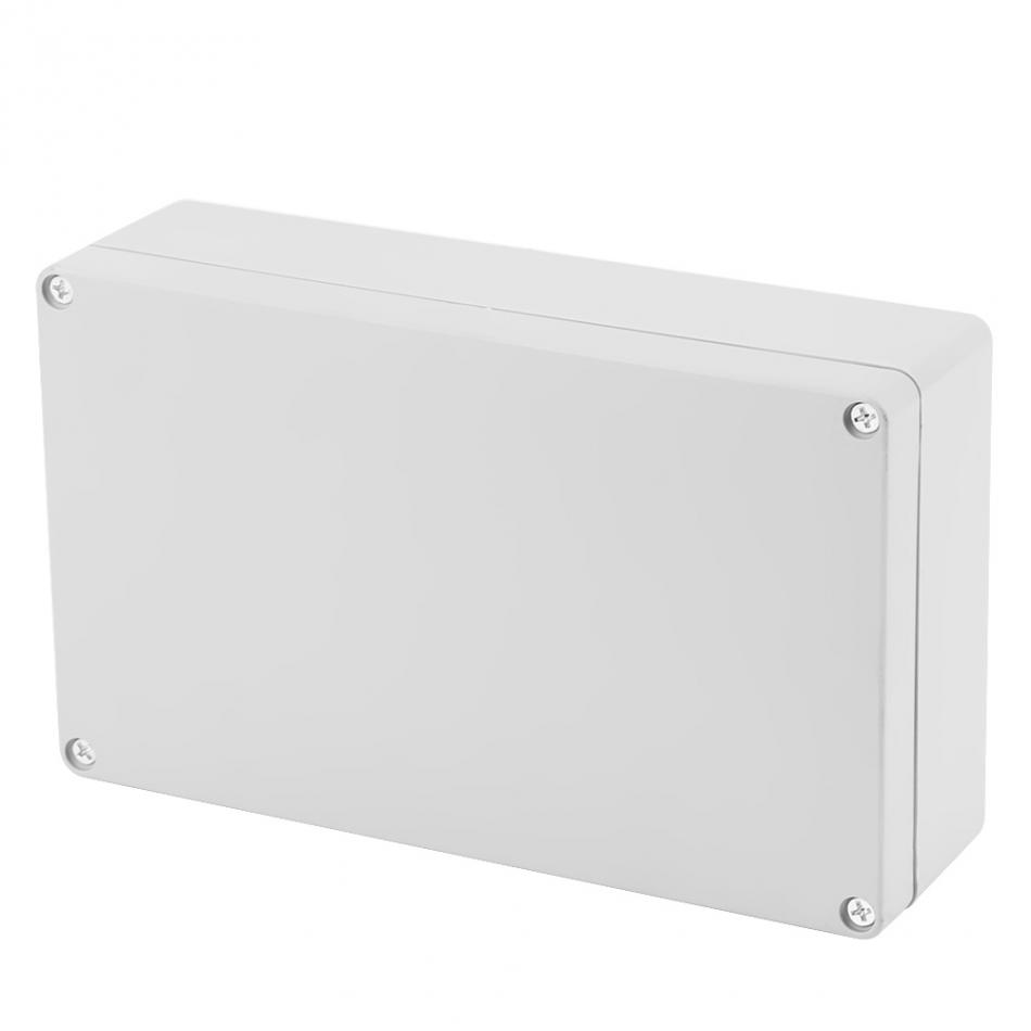 Water-resistant IP65 ABS Project Enclosure Case Wiring Junction Box 200*120*56mm Accessories 1 piece lot 83 81 56mm grey abs plastic ip65 waterproof enclosure pvc junction box electronic project instrument case