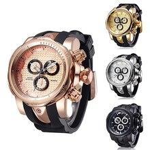 Hommes Mode Casual Sport Cool Bracelet En Silicone Militaire De Luxe Quartz Montre-Bracelet