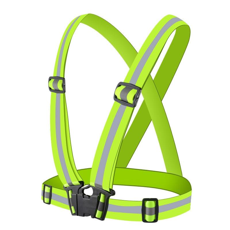 Colete Refletivo Colete de Segurança de Alta Visibilidade Reflexiva Tiras Uniformes de Trabalho ajustável Engrenagem Listras Jaqueta Noite Correndo Ciclismo
