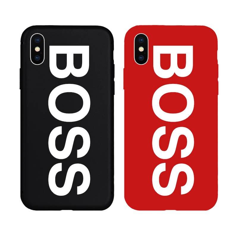 Brand NEW Hot Fashion Soft TPU Silicon <font><b>Case</b></font> for <font><b>iPhone</b></font> 7 7Plus 8 <font><b>8Plus</b></font> 6 6s Plus 5 5s SE X Phone Bag Cover BOSS COOL HOT