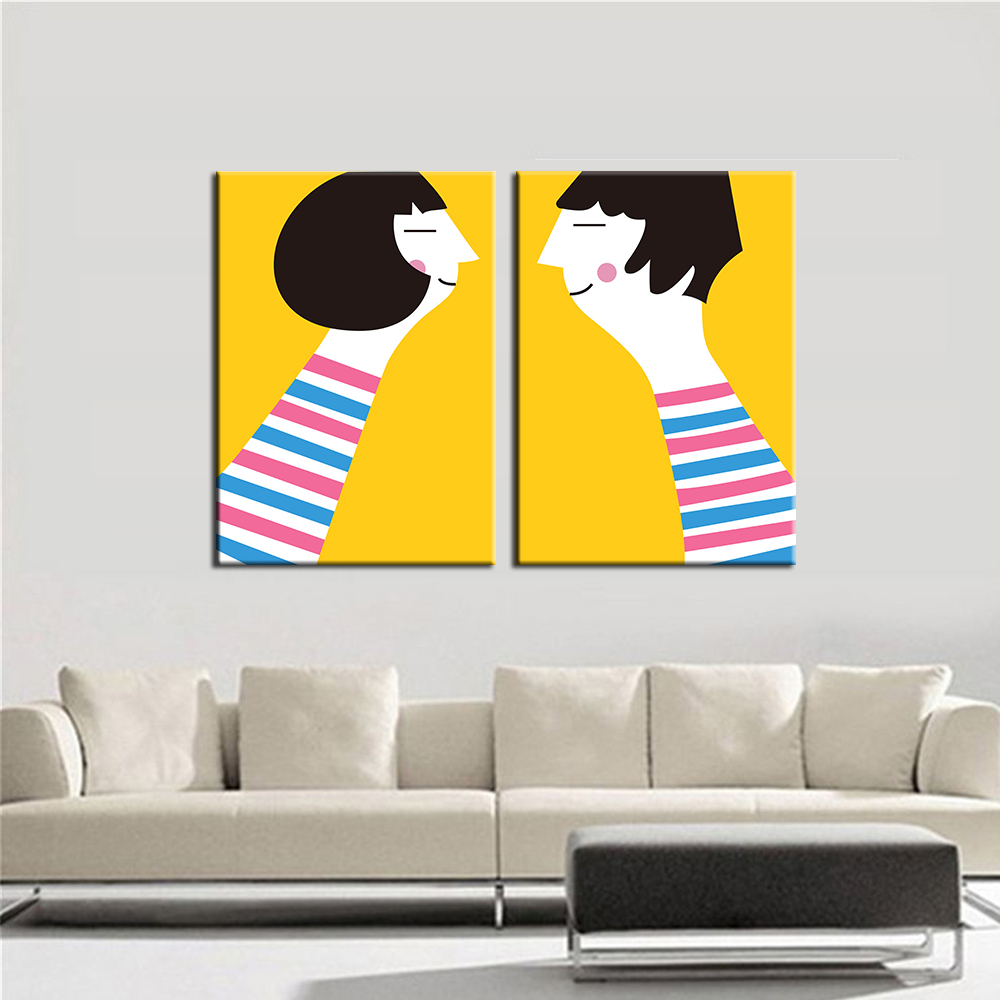 Wall Art Picture Figure Canvas Painting Abstract Girls Home Decor ...
