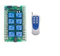 Wide Range Wireless remote switch 10A Relay DC 12V 24V 8 CH 8CH Wireless RF Remote Control Switch Transmitter & Receiver