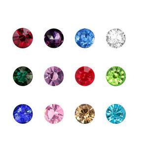 (120 Pcs/lot ) Crystal 3mm Floating Charms 12 Months Birthstones Floating Charms fit Floating Glass Lockets(China)