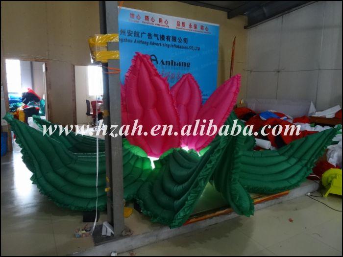 La flor inflable roja y verde más nueva con la luz del LED para la - Mueble - foto 3