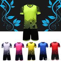 Men DIY Soccer Suits SPT Survetement Football 2017 Maillot De Foot Men Soccer Jersey Breathable Training
