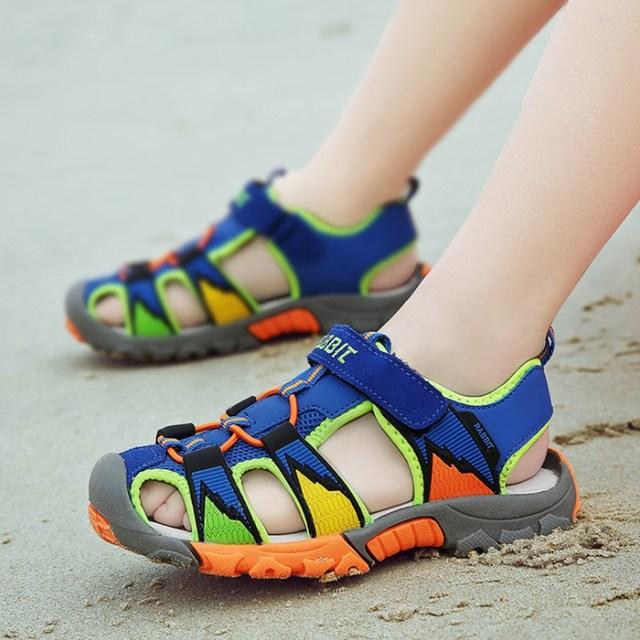 ילדי קיץ סנדלי 2019 ילדים בני גומי בלעדי להחליק עמיד אופנה סנדלי ילד באיכות גבוהה חוף סנדל נעלי T16-58