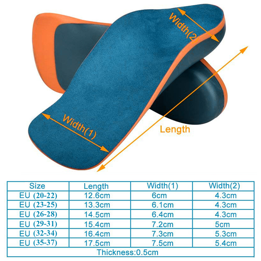Image 5 - Sunvo Kid Orthotic Insoles for Children Flatfoot Arch Support Corrector Child Orthopedic Shoes Pad Foot Care Toddler Insole SoleInsoles   -