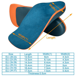 Image 5 - Sunvo Kid Orthotic Insoles for Children Flatfoot Arch Support Corrector Child Orthopedic Shoes Pad Foot Care Toddler Insole Sole