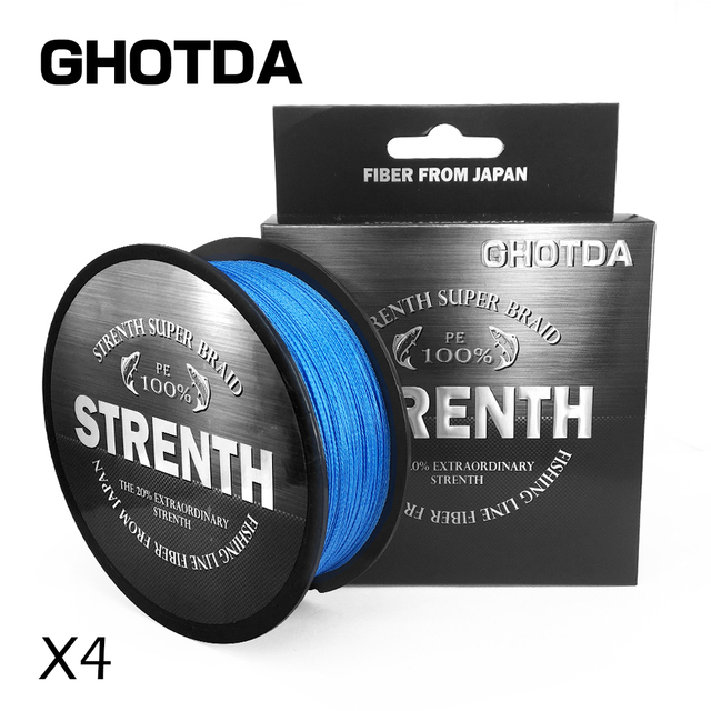 Best Price GHOTDA 500M Fishing Lines PE Braid 4 Stands 12LBS to 83LB Multifilament Fishing Line Angling Accessories Fishing Rope Cord