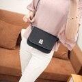 2016 verano nuevo bolso femenino calidad de cuero de LA PU mujeres bolso de la manera Coreana simple cuadrado pequeño mini bolso de hombro bolsa de Mensajero
