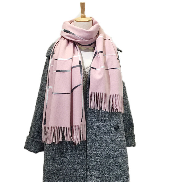 New Brand design double side big size women's scarf knit Thick Warm winter scarves long size female plaid cashmere scarves