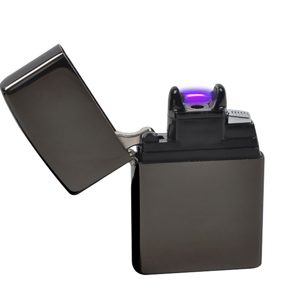 Черный Электронный плазменная Зажигалка дуги USB сигареты Isqueiro сигары encendedor ветрозащитный Fire Starter курение гаджеты для мужчин коробка