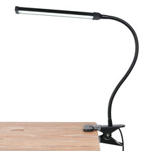 Artpad Energy Efficient LED Clip-on Lamp Flexible Gooseneck 360 Degree Rotatable Eye Protection Office Desk Clamp with Clip
