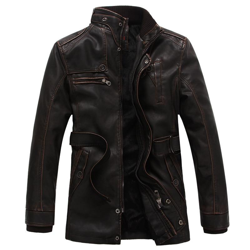 2016 Neue Marke Motorrad Leder Jacken Männer Slim Leder Jacke Jugend Herren Leder Herbst Winter Jacke Mantel Der Männer #9111 Auf Dem Internationalen Markt Hohes Ansehen GenießEn