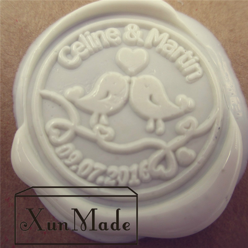 A) low cheap price custom seal wax sealing stamp for wedding Invitation Retro antique stamp weeding wax stamp with name and date address adhesive stickers labels 100 100mm 500 sheets thermal papers for labeling and sealing marks wholesale with a good price